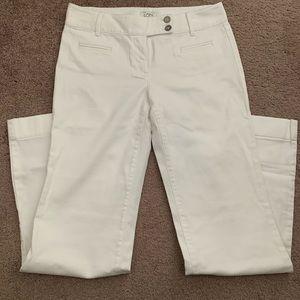 Loft white denim trousers